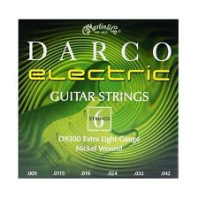 MARTIN & CO. DARCO D9300 EXTRA LIGHT GAUGE NICKEL WOUND ELECTRIC GUITAR STRINGS