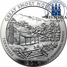 5 Oz Silber USA 25 Cent 2014 Great Smoky Mountains National Park in Tennessee
