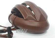 Helmet Spin Vintage Cycling Brown Smooth Leather Classic Bicycle and Handmade