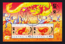 Christmas Island 1996 Year of the Rat Mini-Sheet Stamps (CTO)