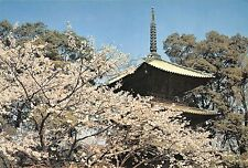 BR30876 Cherry blossoms and three storied pagoda fleuri flowers Japan