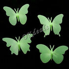 4 Pcs Glow In The Dark Butterfly Fluorescent Decal Art Wall Stickers Home Decor