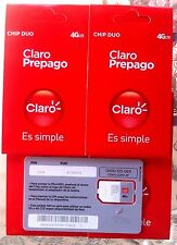 New! ACTIVE 4G Argentina CLARO sim card argentino tarjeta South America