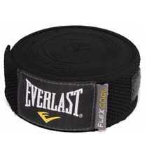 MMA Hand Wraps Everlast 180 Inch FlexCool Protection Support Stretchable Black
