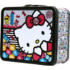 Hello Kitty Metal Tin Lunch Box Candy NEW Loungefly Carrier Tote