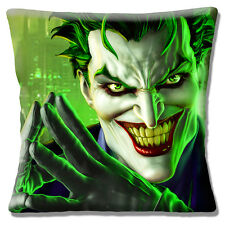 "NEW 'THE JOKER' BATMAN CHARACTER SCARY SMILING GREEN 16"" Pillow Cushion Cover"