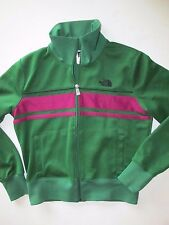 The North Face Green Purple Poly Blend Zip Front Jersey Jacket Women's M  NY22