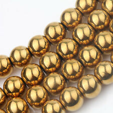 New 50PCS Wholesale Crystal Bead Necklace Smooth Golden Spacer Beads 6 mm
