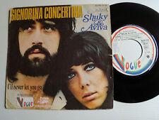 """SHUKY & AVIVA: Signorina concertina / never let you go 7"""" 1972 VOGUE 45 RB 4184"""