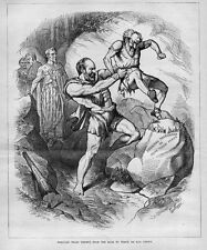 PRESIDENT GARFIELD AS HERCULES ROSCOE CONKLING AS THESEUS UNCLE SAM WEARING TOGA