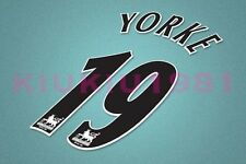 Manchester United Yorke #19 PREMIER LEAGUE 97-06 Black Name/Number Set
