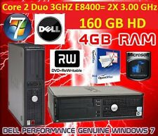 Dell Optiplex 780 Core 2 Duo 2 X 3.00 ghz E8400 160 Gb Dd Y 4gb Ram Dvd-rw & Wifi