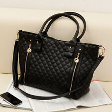 Womens Handbags Bags Leather Shoulder Tote Crossbody Bag Hobo Handbag Black