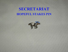 SECRETARIAT HOPEFUL STAKES SARATOGA HAND PAINTED HORSE RACE JOCKEY SILKS PIN