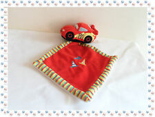 L - Doudou Flash Mc Queen Voiture Cars + Mouchoir rouge Disney Nicotoy