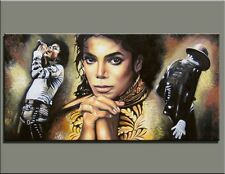 Hand-painted Portrait oil painting Art on canvas Michael Jackson 24x48 Unframed