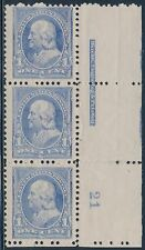#246 STRIP OF 3 W/ PL # IMPRINT; BOTTOM STAMP JUMBO VF-XF OG NH BT3030