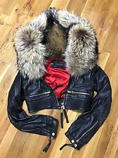 100% Authentic Dsquared2 coat with racoon fur,  S size 44, retail price 3200$