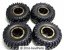 HSP Rock Crawler 2.2 Beadlock Wheels Soft Compound Tires Wraith SCX10 AX10 SCALE