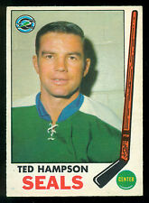 1969 70 OPC O PEE CHEE HOCKEY #86 TED HAMPSON EX-NM CALIFORNIA GOLDEN SEALS CARD