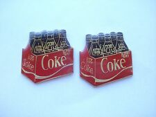 COCA-COLA CRATE OF COKE BOTTLES CAN OLD VINTAGE NEW RARE PIN BADGE LOT SALE 99p