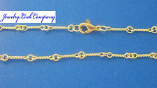 "14K Solid Yellow Gold Handmade Dogbone Chain 6.9grams 3mm 18"" LG"