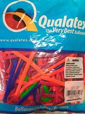 Glow UV Neon Qualatex Balloons Assortment 100 Twist Size 260 Balloon Party.