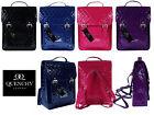 Ladies Womens Girls Satchel Backpack Rucksack Bag School Bags Glossy Pvc Leather