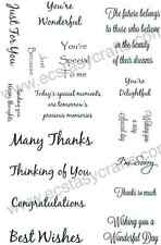 Creative Expressions DELIGHTFUL SENTIMENTS Clear Stamp Set CEC703 Greetings