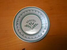 Arabia Finland GREEN THISTLE Set of 7 Fruit Sauce Bowls 5 in