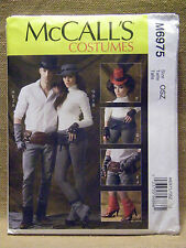 MCCALLS PATTERN 6975 UNISEX STEAMPUNK SPATS HATS GLOVES  MENS MISSES  UN-CUT