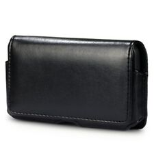Funda Clip Cinturon HTC ONE S Cuero Negra negro TY