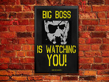 Big Boss is Watching You Poster Metal Gear Solid Wall Artwork 11 X 17