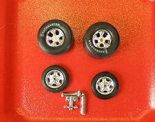 Gasser Mag Wheels M & H Slicks, Skinny Front Tires    (TGFC)