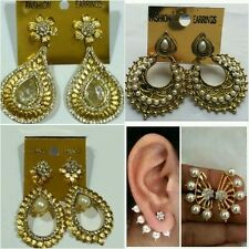 Combo of Pearl & Stone Earings