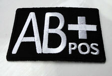 P4 AB + Positive Blood Group Safety ID Iron On Patch Best Quality AB+ Medical
