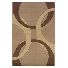 Oh! Home Corfu Collection Tan/ Brown Area Rug (5' x 7''7)