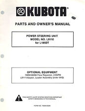 KUBOTA  L9110  POWER STEERING UNIT PARTS and OWNER'S MANUAL for L185DT Tractor