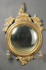 Regency Giltwood and Gesso Two-Light Convex Girandole Mirror Early 19... Lot 220