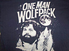One Man Wolfpack Zach Galifianakis The Hangover Navy Graphic T Shirt - L