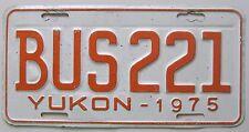 Yukon 1975 BUS License Plate NICE QUALITY # BUS221