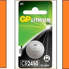 10 x GP CR2450 3V litio moneta cella BATTERIA 2450 DL2450