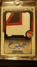 2015 Topps Museum Collection Bryce Harper 1/1 , HUGE JERSEY # PATCH, AUTO