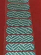 Jamberry Half Sheet - Turquoise Silver Criss Cross - Retired