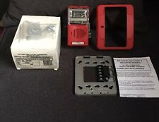 New National Time & Signal SG-C2HS60 904-1133-002NTS Fire Alarm Horn Strobe Red