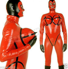 Latex Rubber .45mm Inflatable Bust Bodysuit Overall Catsuit Suit Leotard Costume