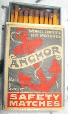 ANCHOR - SAFETY MATCHES, MADE IN SWEDEN