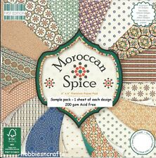 Dovecraft marocchino Spice documenti 6 X 6 Sample PACK - 1 di ogni Design - 16 fogli