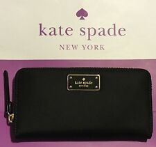 NWT KATE SPADE NEDA BLAKE AVENUE BLACK WLRU2356 Zip Around Wallet $159