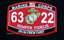 MOS 6322 UH-34 CREW CHIEF HAT PATCH US MARINES USS FMF MWCS WOW